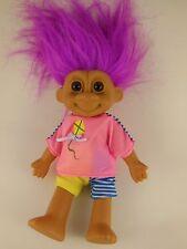 "Russ Berrie Troll doll 7"" with Bright Pink Fuschia Hair"