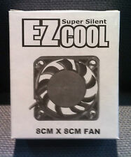 EZCool 8CMx8CM (80MMx80MM) Case Fan (Pack of 3)
