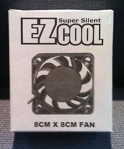EZCool 8CMx8CM (80MMx80MM) Case Fan (Pack of 3)