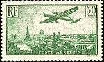 "FRANCE TIMBRE STAMP AVION N°14 ""AVION SURVOLANT PARIS 50F"" NEUF XX TTB"
