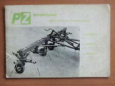 Gebruiksaanwijzing Betriebsanleitung Ersatzteilliste PZ Rotorheuer Rotex 2 4 6