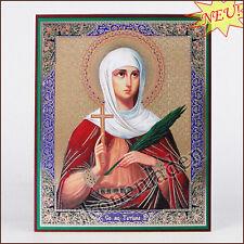 Ikone Tatjana von Rom geweiht Holz 10x12 Icône icon икона Татьяна Татиана