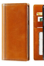 Apple iPhone 7 Phone Case Handmade Full Grain Leather Wallet Cover case Tan