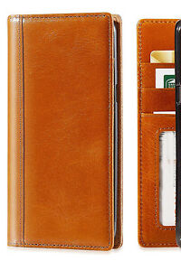 Apple iPhone 7 Phone Case Handmade Genuine Italian Leather Wallet Cover case Tan