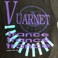 Rare Vintage VUARNET France Spell Out Single Stitch T Shirt Size L 80s 90s Tee