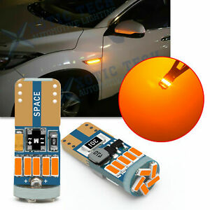 2827NA LED Bright Amber Parking Side Marker Outer Turn Signal Light Bulb Canbus