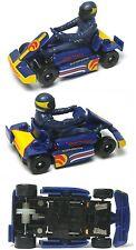 2015 Micro Scalextric G1120T Race Karts BLUE 1:64 HO Slot Car UNUSED