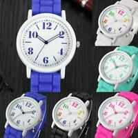 Fashion Silicone Strap Women's Watches Analog Stainless Steel Quartz Wrist Watch