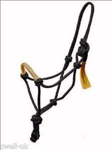 Rope Halter/Headcollar Horsemanship/Parelli Rawhide Braided Noseband Black
