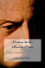 Crítica de la Razón Pura by Inmanuel Kant (2016, Paperback)