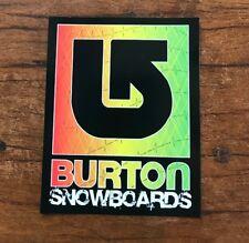 Burton Snowboards Sticker - Skiing Ski Snowboarding Snowboard Mountain Sports