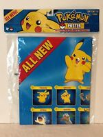 2007 Pokemon Jakks Pacific Poster Pikachu Hoenn Region Action Figures New Sealed