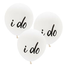 "Set of 3 Large 17"" Round White Balloons Bridal Shower Wedding Decorations"