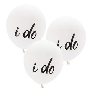 """Set of 3 Large 17"""" Round White Balloons Bridal Shower Wedding Decorations"""