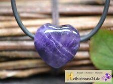 Modeschmuck-Halsketten & -Anhänger aus Edelstein mit Amethyst und Herz