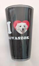 I Heart (Love) Kuvaszok Artful Alehouse Pint Glass, 16-Oz - Kuvasz