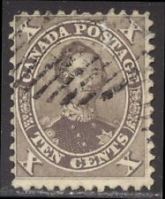Canada #17b Used - 1859 10c Brown ($140)