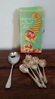 Vintage Sheffield Fruit Set (Cutlery Spoon Fork Serving Spoon Original Box)