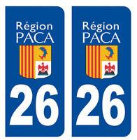 2 IMMATRICULATION 26 DROME REGION PACA DEPARTEMENT VALENCE AUTOCOLLANT