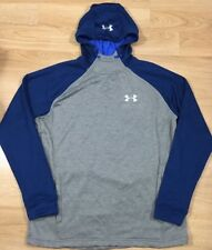 Under Armour Hoodie Mens Size Large Loose Gray And Blue