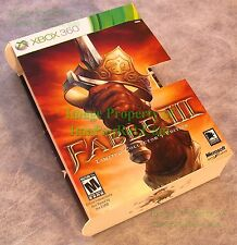 XBOX 360 Sleeve for Fable III Limited Collector's Edition Set -Replace Damaged 1