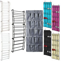 Over Door Shoe Storage Pockets Rack Hanging Organiser Tier Bag Box Hook Shelf UK