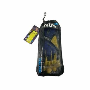 MITRE Goal Keeper Gloves 10 - Punchzone Strap Control Blue & Yellow Gloves NWT