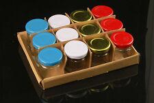 Einmachgläser 24 x 30 ml Honiggläser Obstgläser mit Schraubdeckel