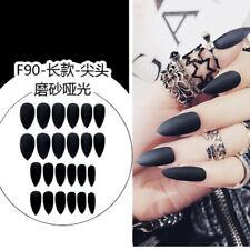 24Pcs/Set Acrylic Full Cover Fake Nail Finger Tips Long False Nails Art Hot