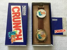 New Old Stock Nestle Crunch and Basketball Slam Dunk Quartz Watch by Fossil