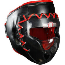Ringside Face Saver Boxing Headgear with Plastic Shield - Black/Red