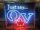 Vintage OV Old Vienna Molson Coors Canada Just say OV beer neon sign NEW