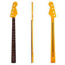 Neck Maple 21 Fret For 4 String Electric Bass Guitar Parts Replacement