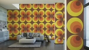 AS Big Circle Orange Brown and Yellow Wallpaper