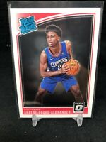 2018-19 Optic Donruss #162 Shai Gilgeous-Alexander RC Rated Rookie M66