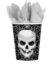 8 X Fright Night Gobelet Carton Fête Halloween Têtes de Mort Squelettes