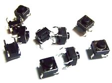 10Pcs 6x6x5mm  Push Button  PCB Momentary Tactile  Switch 4 Pin
