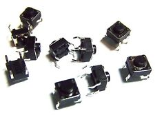10Pcs 6x6x4mm with 1mm Push Button  PCB Momentary Tactile  Switch 4 Pin