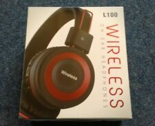 8 Hour 4.2 Wireless Red Headphones L100 With Built In Mic & 3.5mm Jack Aux In