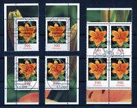 Bund Blumen 2534 gestempelt Vollstempel Eckrand oder Viererblock ETSST BRD 2006