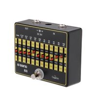 CP 24 10 Band EQ Equalizer True Bypass Gitarre Effektpedal mit U3I1