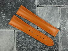 OMEGA 20mm Orange Calf Leather Deployment Strap Orange Watch Band Seamaster