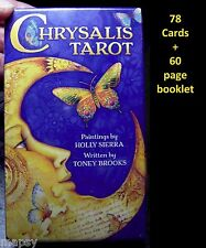 NEW Chrysalis Tarot Deck 78 2.75x4.75 CARDS + Booklet Toney Brooks Holly Sierra