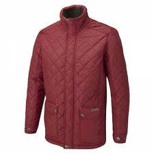 CMP196 Craghoppers Mens Healey Quilted Waterproof Jacket In Red MRP £135.00 (M)