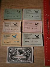 Carrier Pigeon BIRD breeder TICKET,YUGOSLAVIA SERBIA DOCUMENT PROPERTY VOUCHER
