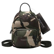 Fashion Women Girl Mini Casual Backpack Shoulder School Travel Bag Camouflage