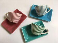 3x Kaffetassen-Set Drei Farben, 6 teilig in Originalverpackung.