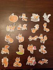 Wildlife Red fox Stickers Stationary Low Price 20 Pcs Design #1