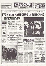 L' EQUIPE - LA UNE DU 5 MARS 1964 REPRODUCTION CARTONNEE OLYMPIQUE LYONNAIS OL
