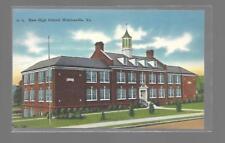 NEW HIGH SCHOOL - MARTINSVILLE, VIRGINIA-LINEN POSTCARD NEW UNUSED